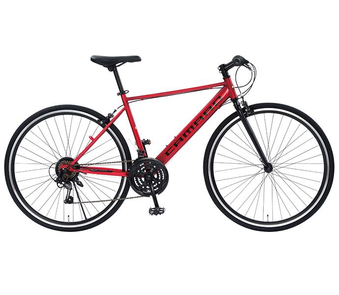 配送先一都三県一部地域限定 クロスバイク シボレー 2019年モデル CHEVROLET CAMARO CRB 7021 外装21段変速ギア 軽量 自転車 700c 自転車 おしゃれ レッド
