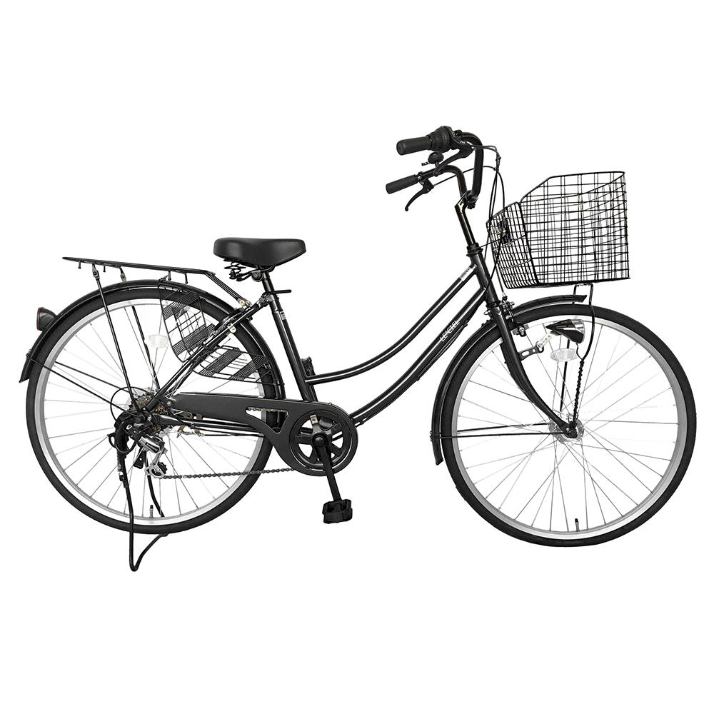 折りたたみ自転車 本体 ママチャリ シティサイクル 【MC266】 2018年新型 シティーサイクル じてんしゃ 26インチ ママチャリ シマノ製6段ギア付き 【送料無料】
