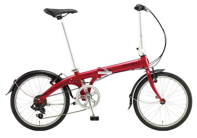 配送先一都三県一部地域限定送料無料 折りたたみ自転車 DAHON Vybe D7 ダホン 自転車 20インチ 折りたたみ自転車 外装7段変速ギア ダホン 折りたたみ自転車 DAHON ヴァイブ D7 2018年モデル Vybe Dark Cherry レッド 赤 ギア付 通販 おしゃれ