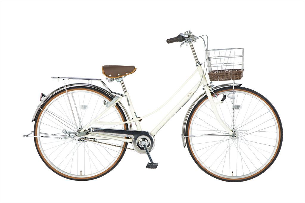 イーストボーイ デラックス 自転車 27インチ シティサイクル 自転車 女子高生 女子中学生、女子小学生の通学に最適 2018年モデル ママチャリ 内装3段ギア ローラーブレーキ LEDオートライト EASTBOY BAA EB273DX ホワイト 変速 ギア付 女の子