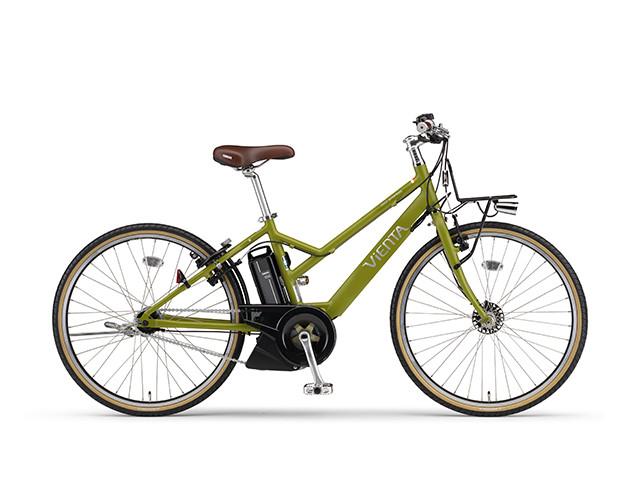 電動自転車 ヤマハ YAMAHA VIENTA5 電動アシスト自転車 格安 激安 電動ママチャリ 送料無料 軽量 X0TW01-0479 マットリーフグリーン ツヤ消しカラー 緑 グリーン 通販 おしゃれ