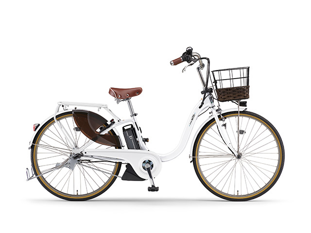配送先一都三県一部地域限定送料無料 電動自転車 ヤマハ YAMAHA PAS 18 WithDX26 パス 26インチ 電動アシスト自転車 電動ママチャリ 2018年モデル 軽量 X0U601-010D ホワイト 通販 おしゃれ