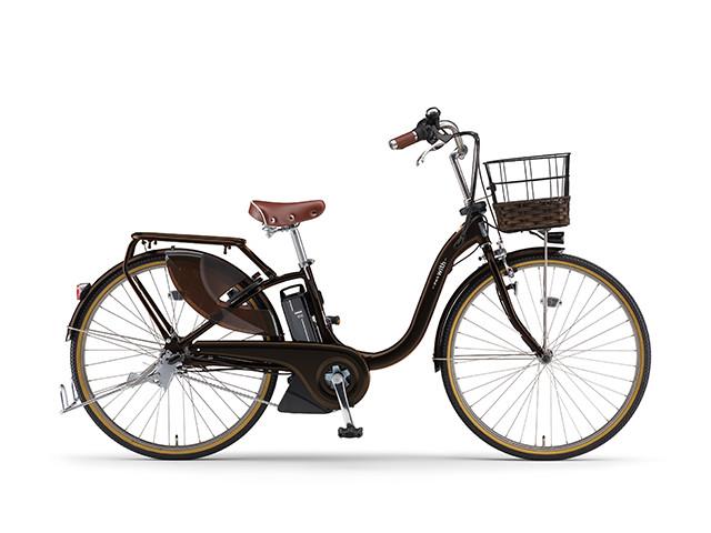 配送先一都三県一部地域限定送料無料 電動自転車 ヤマハ YAMAHA PAS 18 WithDX26 パス 26インチ 電動アシスト自転車 電動ママチャリ 2018年モデル 軽量 X0U601-010G ダークメタリックブラウン 通販 おしゃれ