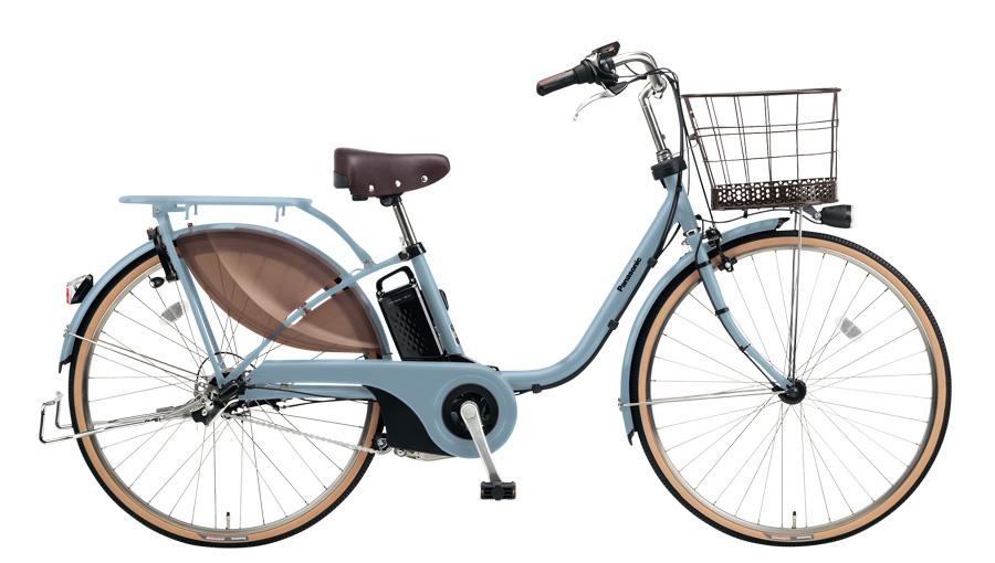 配送先一都三県一部地域限定送料無料 電動自転車 パナソニック Panasonic ビビスタイル 26インチ 電動アシスト自転車 2018年モデル BE-ELDS634V2 マットブルーグレー 通販 おしゃれ
