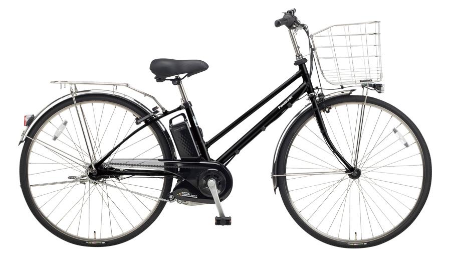 配送先一都三県一部地域限定送料無料 電動自転車 パナソニック Panasonic ティモ EX 27インチ 電動アシスト自転車 2018年モデル BE-ELET754B2 マットブラック 黒 通販 おしゃれ