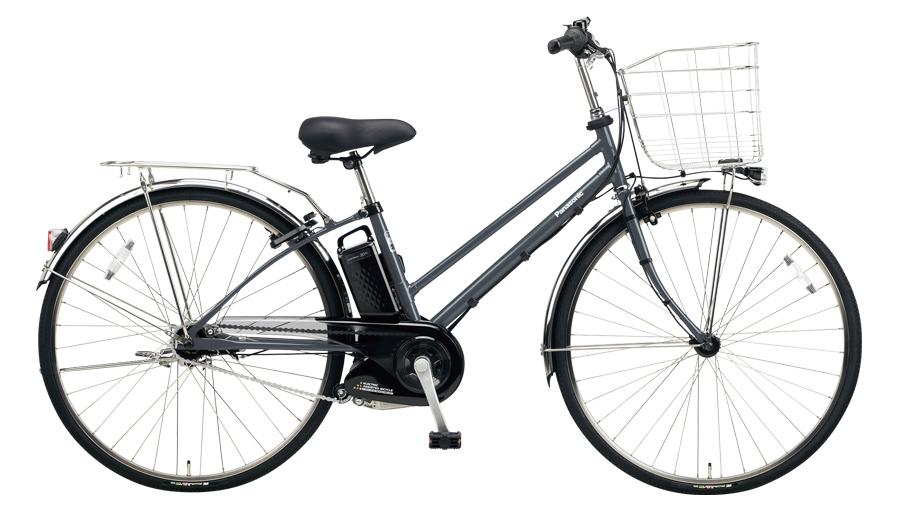 配送先一都三県一部地域限定送料無料 電動自転車 パナソニック Panasonic ティモ EX 27インチ 電動アシスト自転車 2018年モデル BE-ELET754N メタリックグレー 通販 おしゃれ