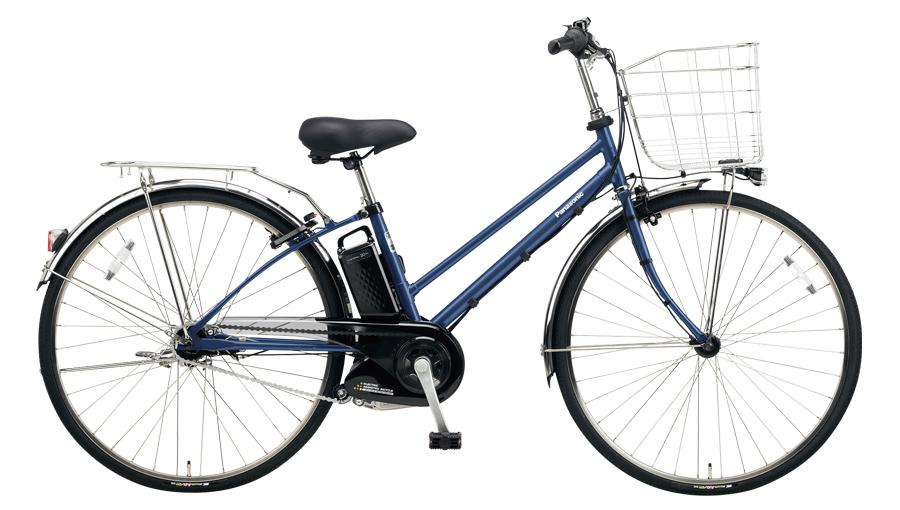 配送先一都三県一部地域限定送料無料 電動自転車 パナソニック Panasonic ティモ EX 27インチ 電動アシスト自転車 2018年モデル BE-ELET754V インディゴブルーメタリック 通販 おしゃれ