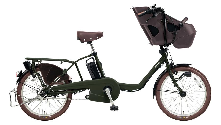 配送先一都三県限定 電動自転車 パナソニック Panasonic ギュット ミニ KD 20インチ 電動アシスト自転車 2018年モデル 激安 格安 BE-ELM032G マットダークグリーン 緑 通販 おしゃれ