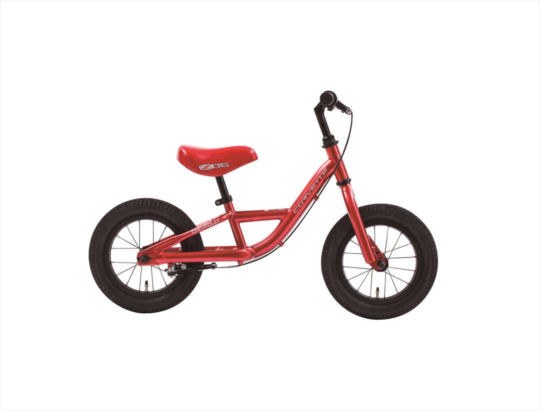 配送先一都三県限定 2018年モデル シボレートレーニングバイク CORVETTE TRAINEE BIKE12 12インチ レッド 赤 キックバイク ペダルなし ランバイク 激安 通販 おしゃれ 安い