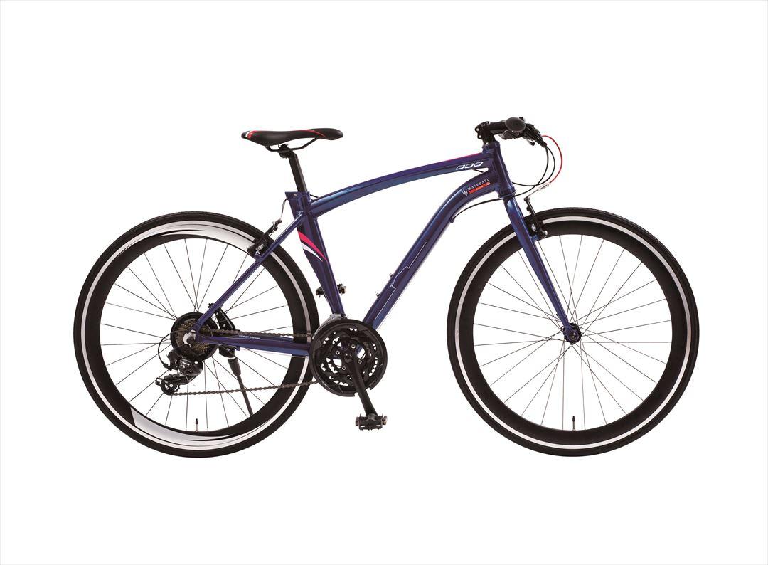 配送先一都三県限定 2018年モデル MASERATI AL-CRB7021 自転車 ブルー 青 クロスバイク マセラッティ 激安 通販 おしゃれ 安い