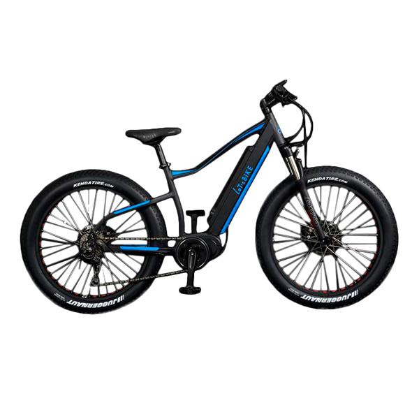 電動自転車 配送先一都三県一部地域限定送料無料 ファットバイク 26インチ マウンテンバイク 外装10段変速ギア E-Bike FATEMTB ブラック×ブルー Let'sbike