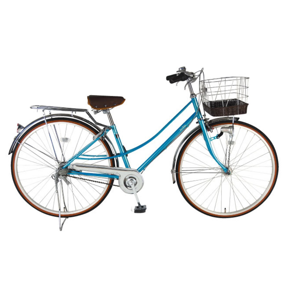 2台セット販売 EASTBOY イーストボーイ 自転車 シティサイクル オーシャンブルー 女子高生 女子中学生 女子小学生 最適 デラックス ママチャリ 内装3段 27インチ LEDオートライトの自転車 イーストボーイ 自転車 BAA 女の子