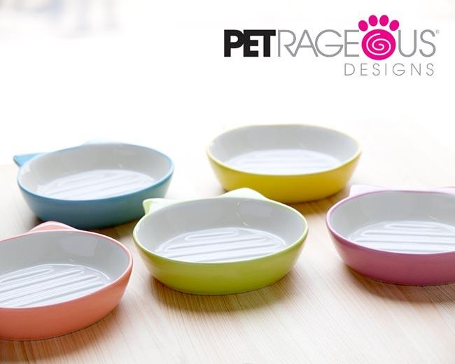 【値下げしました】猫 フードボウル ネコ 食器 イージーダイナー キャットディッシュ~猫耳付!底面の突起がフードをすくいやすい 猫用食器 可愛い おしゃれ
