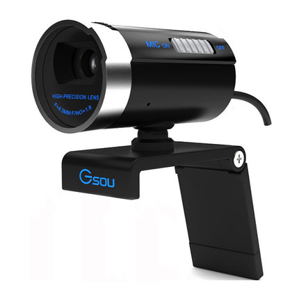 High-performance webcam black screen 12 million Prime CMOS adoption GSOU  microphone built-in driver installation required, simply connect the easy!