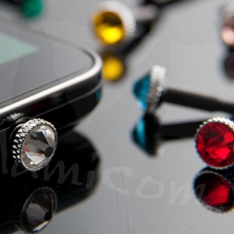 バーゲン iPhone6 iPhone6 plus イヤホンジャックアクセサリー スマホピアス スマートホン対応 スワロフスキー イヤホンピアス 今なら保護フィルム付き  M39M
