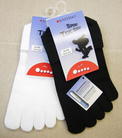 Moisture quick-drying cool-Maxx sport five toe socks (Ghost-length) (23-25 cm)-s & M (25-27 cm), L (27-29 cm)