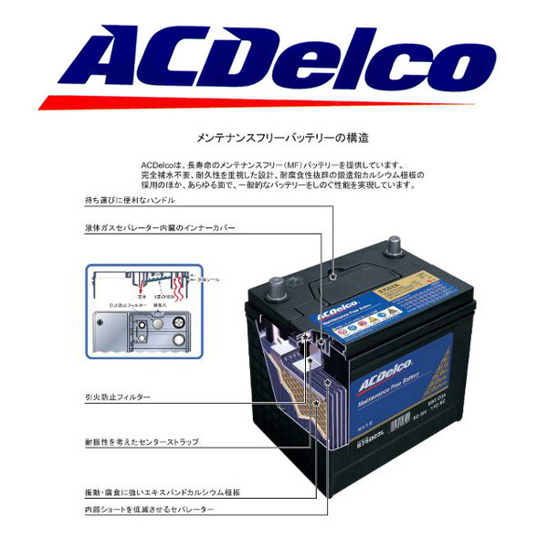 AC Delco battery LBN3 Ford Mustang