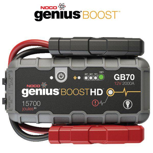 NOCO(ノコ) ジャンプスターター GB70 12V 2000A 容量5000mAh ブーストHD LEDライト付き