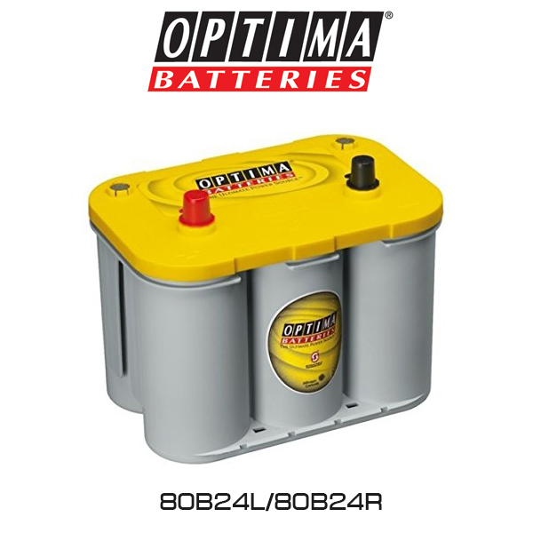 OPTIMA(オプティマ)ディープサイクルバッテリー Yellow top 80B24LR