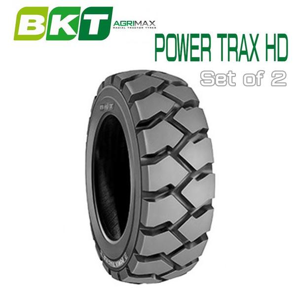 注文後の変更キャンセル返品 BKT 建機産業用タイヤ 6.50-10 Tire POWER TRAX 送料無料(一部地域を除く) フォークリフト用タイヤ HD 2本セット