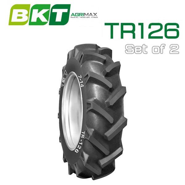 【7-14】BKT Tire・TR126 トラクター用バイアスタイヤ 2本セット トラQ TH5