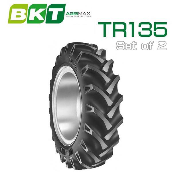 【9.5-24】BKT Tire・TR135 トラクター用バイアスタイヤ 2本セット TH5 グランフォース
