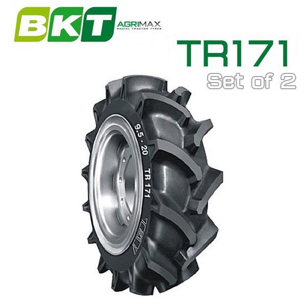 【6.00-12】BKT Tire・TR171 トラクター用ハイラグタイヤ 2本セット TH5 グラノバ
