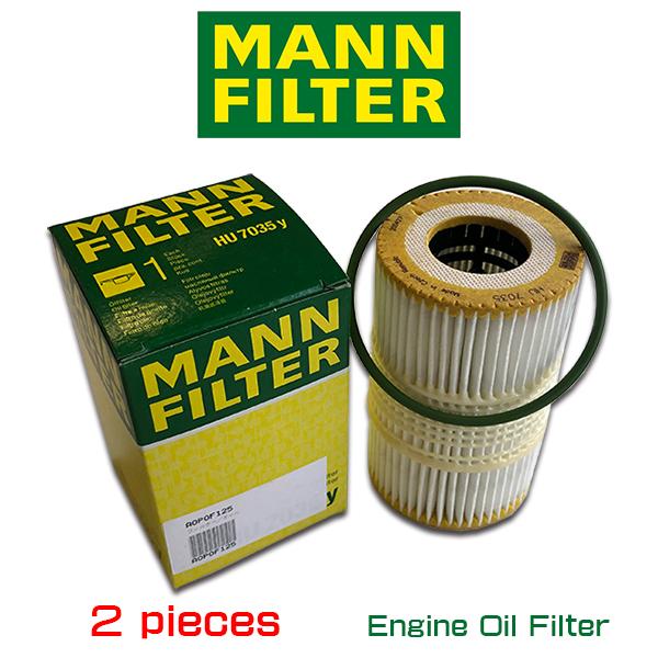 送料込 10%OFF 世界で認められた MANN FILTER お買い得2個セット マンフィルター HU7035y アウディ S5 A6 A7 A8 S4 AOPOF125