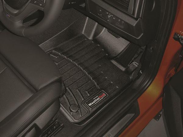 車種専用設計ジャストフィットのフロアマット WeatherTech ウェザーテック フロアライナー BMW 往復送料無料 1シリーズ F20 2012-2015年 右ハンドル車 5ドアハッチバック リア フロアマット ブラック フロント 売買