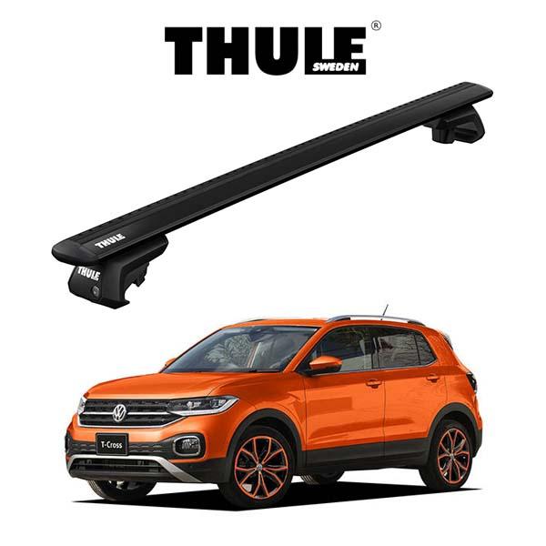 THULE正規販売店 割引 市販 VW T-Cross ウィングバー EVO ブラック ルーフラック Base 車種別セット パーツ THULE スーリーベースキャリア carriers キャリアラック