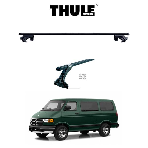 ダッジ ラムバン DODGE RAMVAN ルーフラック 『車種別セット』THULE Base carriers (スーリーベースキャリア)スクエアバー キャリアラック アメ車 パーツ