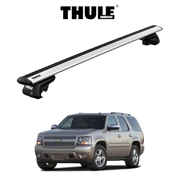 シボレー・タホ CHEVROLET TAHOE (ルーフレール付き) ルーフラック 『車種別セット』THULE Base carriers (スーリーベースキャリア)ウイングバーEVO キャリアラック アメ車 パーツ