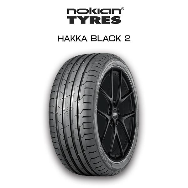 【送料無料】nokian HAKKA BLACK 2 225/45R18 Summer Tire ノキアン サマータイヤ レクサス HS ニッサン ジューク スバル インプレッサ 他