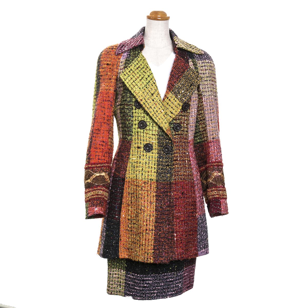 クリスチャン・ラクロワ レディース スーツ ツイード コート スカート Christian Lacroix