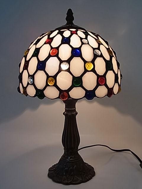 ステンドグラスランプ ドリームスター 8インチ・テーブルランプ(QXCH8-12) 【即納】 【送料無料】 ステンドグラス ランプ スタンド ライト インテリア 照明 間接照明