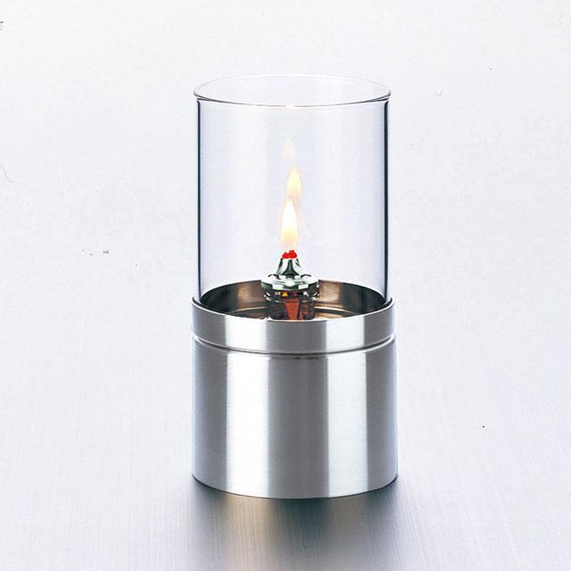 『オイルランプ』ルナックスオイルランプ スタイリッシュ・メタル/クリアタイプ(OL-87-108C)【即納】