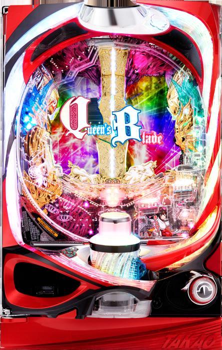 『高尾』CRクイーンズブレイド2 レイナ《非循環》 [家庭用電源/音量調節/取扱説明書/ドアキー/玉500発/ドル箱]【中古】