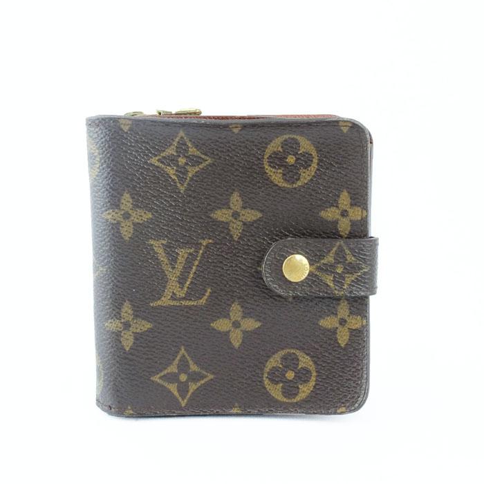ルイ ヴィトン LOUIS VUITTON コンパクトジップ M61667 モノグラム コンパクト財布 【中古】