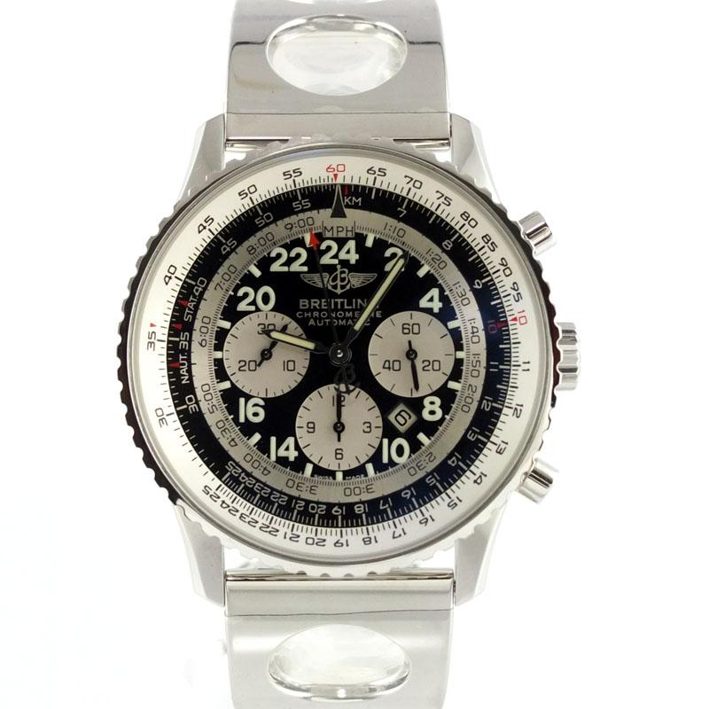 ブライトリング BREITLING ナビタイマー コスモノート A22322 自動巻 125周年モデル 1000本限定 メンズ腕時計 SS 【中古】