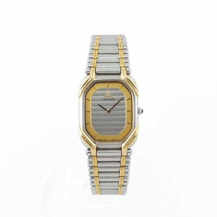 セイコー SEIKO クレドール CREDOR 2F70-5490 レディース 腕時計 K18×SS 【中古】