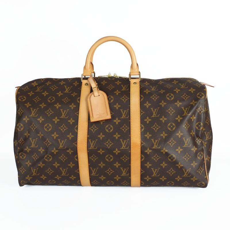 ルイ ヴィトン LOUIS VUITTON キーポル50 M41426 モノグラム ボストンバッグ 旅行バッグ 【中古】