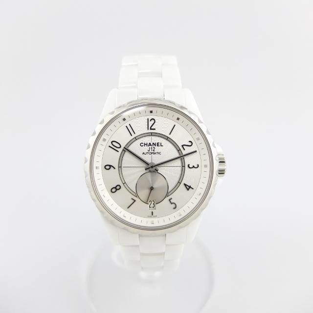 シャネル CHANEL J12 腕時計 H3837 セラミック ホワイト ボーイズ スモールセコンド 【中古】