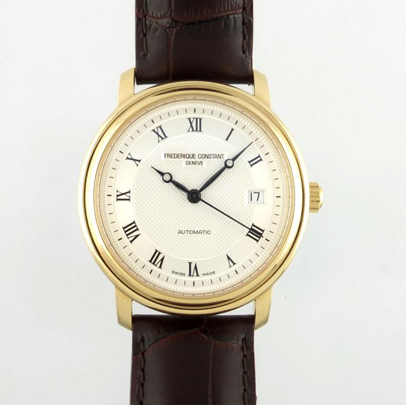 フレデリックコンスタント FREDERIQUE CONSTANT クラシック FC-303/310/315X3P4/5/6 自動巻 シルバー文字盤 裏スケ メンズ腕時計 【中古】