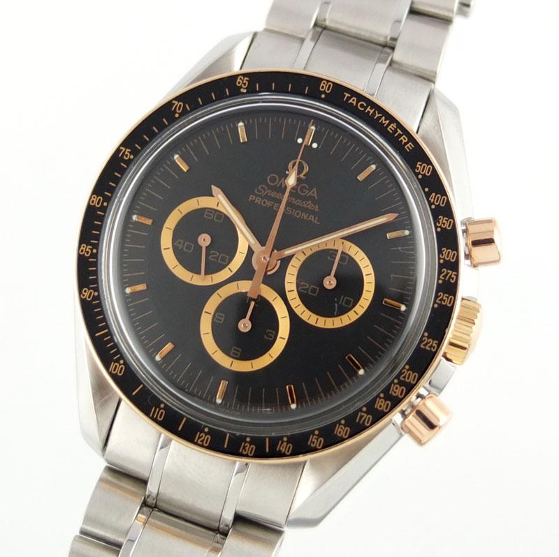 オメガ OMEGA スピードマスター プロフェッショナル アポロ15号 3366.51 35周年記念モデル 手巻き 世界限定1971本 ブラック文字盤 メンズ腕時計 【中古】
