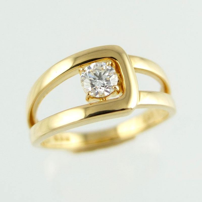 モニッケンダム MONNICKENDAM K18YG リング トラスト ダイヤモンド 0.31ct 指輪 アクセサリー 12号 レディース 【中古】