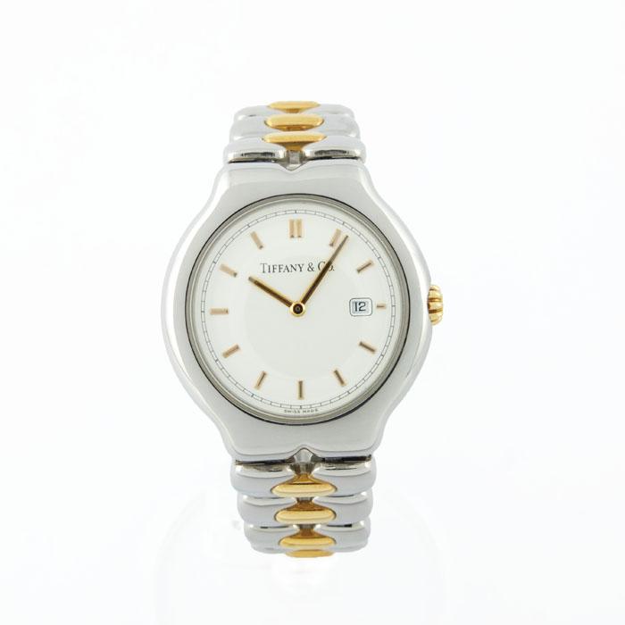 ティファニー TIFFANY&CO ティソロ M0112 クォーツ 腕時計 K18×SS 【中古】
