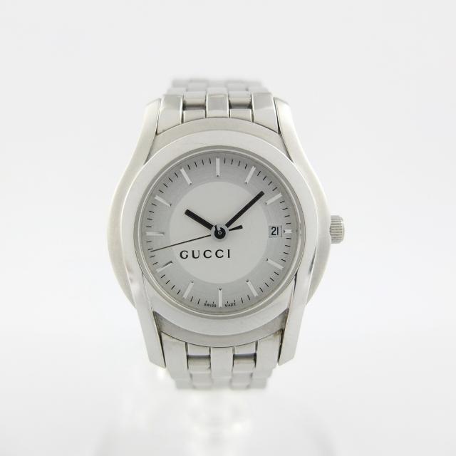 グッチ GUCCI 5500L レディース クォーツ 腕時計 バーインデックス 【中古】