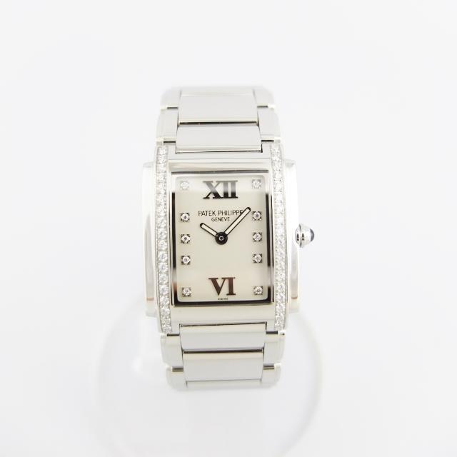 パテックフィリップ PATEK PHILIPPE TWENTY-4 トゥエンティーフォー 4910/10A-011 レディース 腕時計 ホワイト文字盤 【中古】