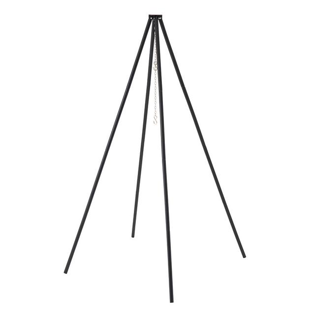 ロゴス/LOGOS アイアンクワトロハイポッド 高さ175cmとハイポジションの吊り下げスタンド 4本継ぎ、高さ175cm 別売りの「KAGARIBI」と組合わせると立ったまま調理ができる