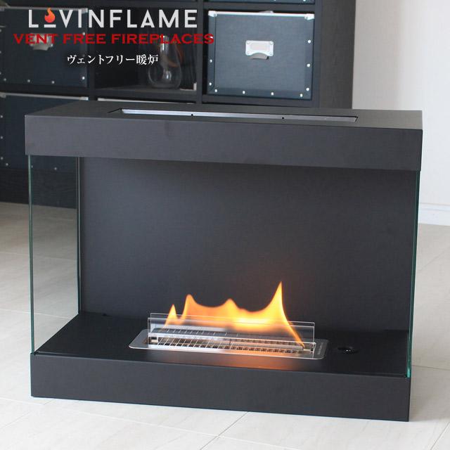 【あす楽】LOVIN FLAME ラビンフレーム ヴェントフリー暖炉 ベントフリー暖炉 煙突などの排気システムや工事が不要 暖炉を手軽に設置可能 マンションでも暖炉が楽しめる 水溶性の燃料で無害、卓上暖炉 TCM50100 black【送料無料】